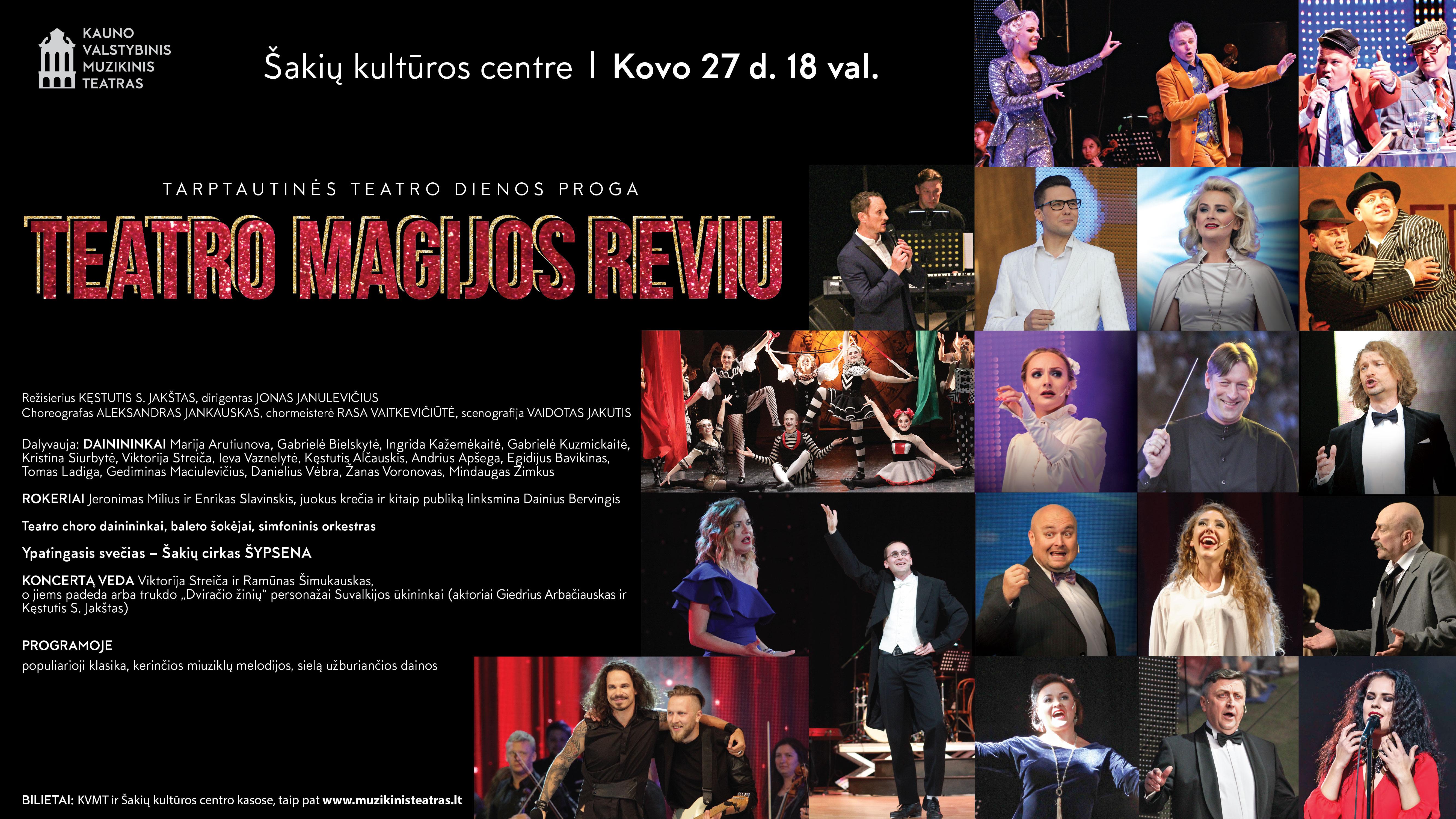 """Tarptautinės teatro dienos proga ,,Teatro magijos reviu"""""""