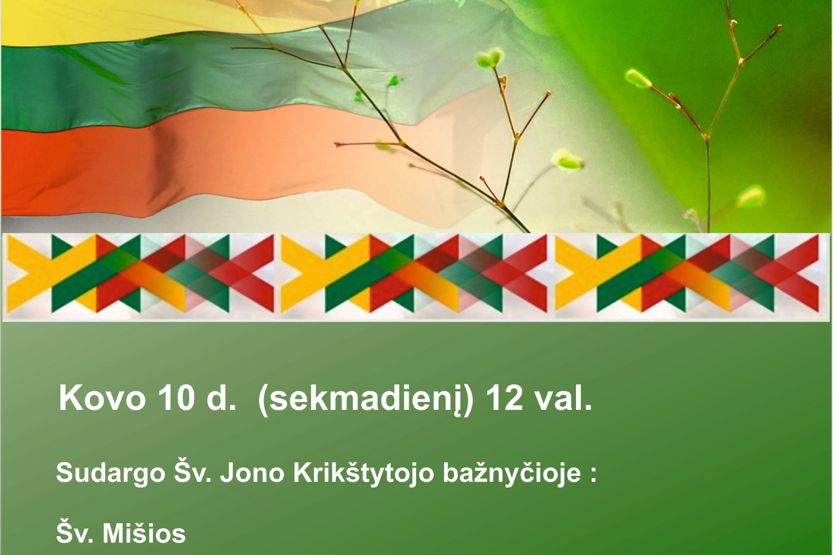 Lietuvos Nepriklausomybės atkūrimo dienos minėjimas Sudarge
