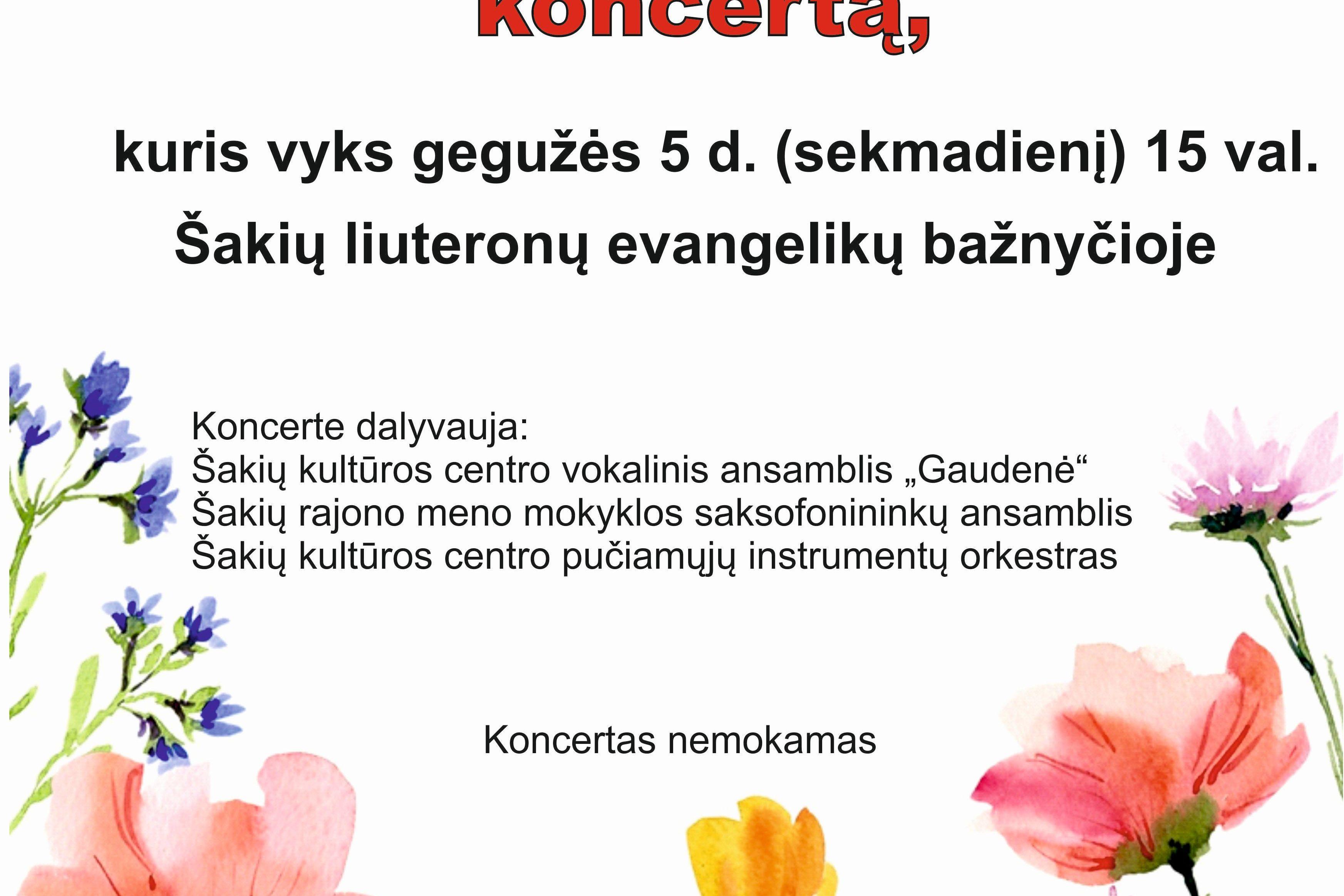 Motinos dienai skirtas koncertas