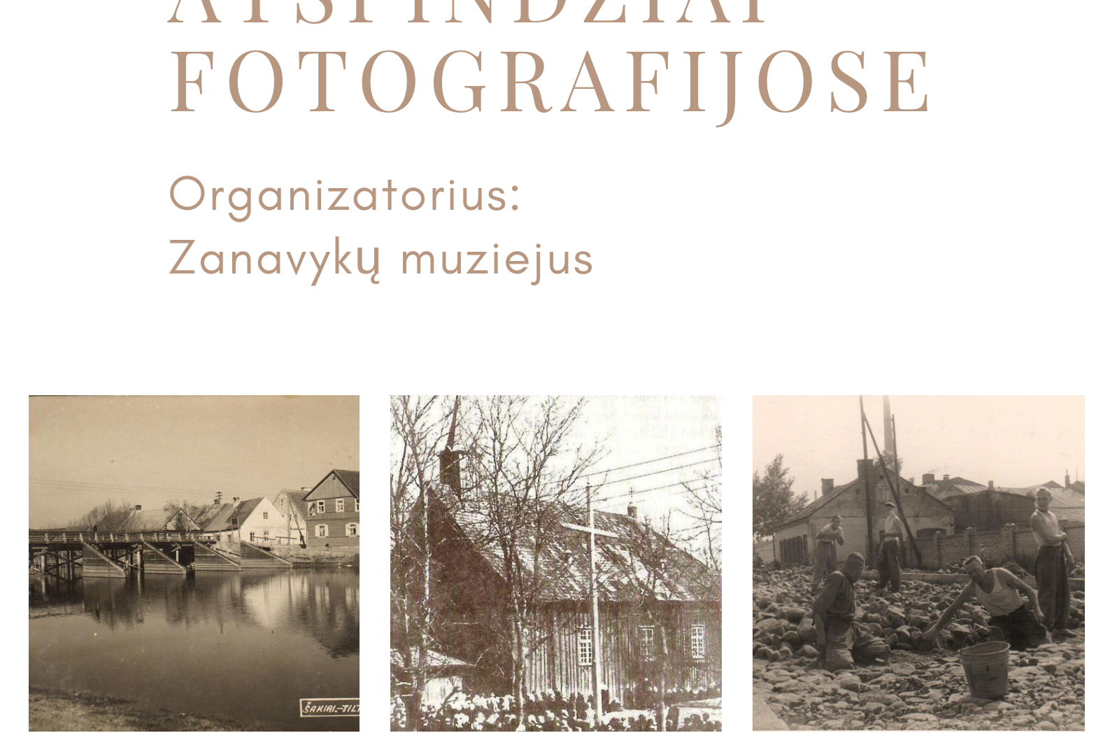 Šakių miesto atspindžiai fotografijose