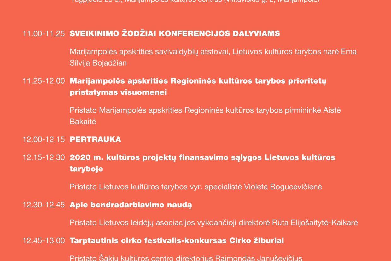 Marijampolės apskrities tolygios kultūrinės raidos prioritetų pristatymas
