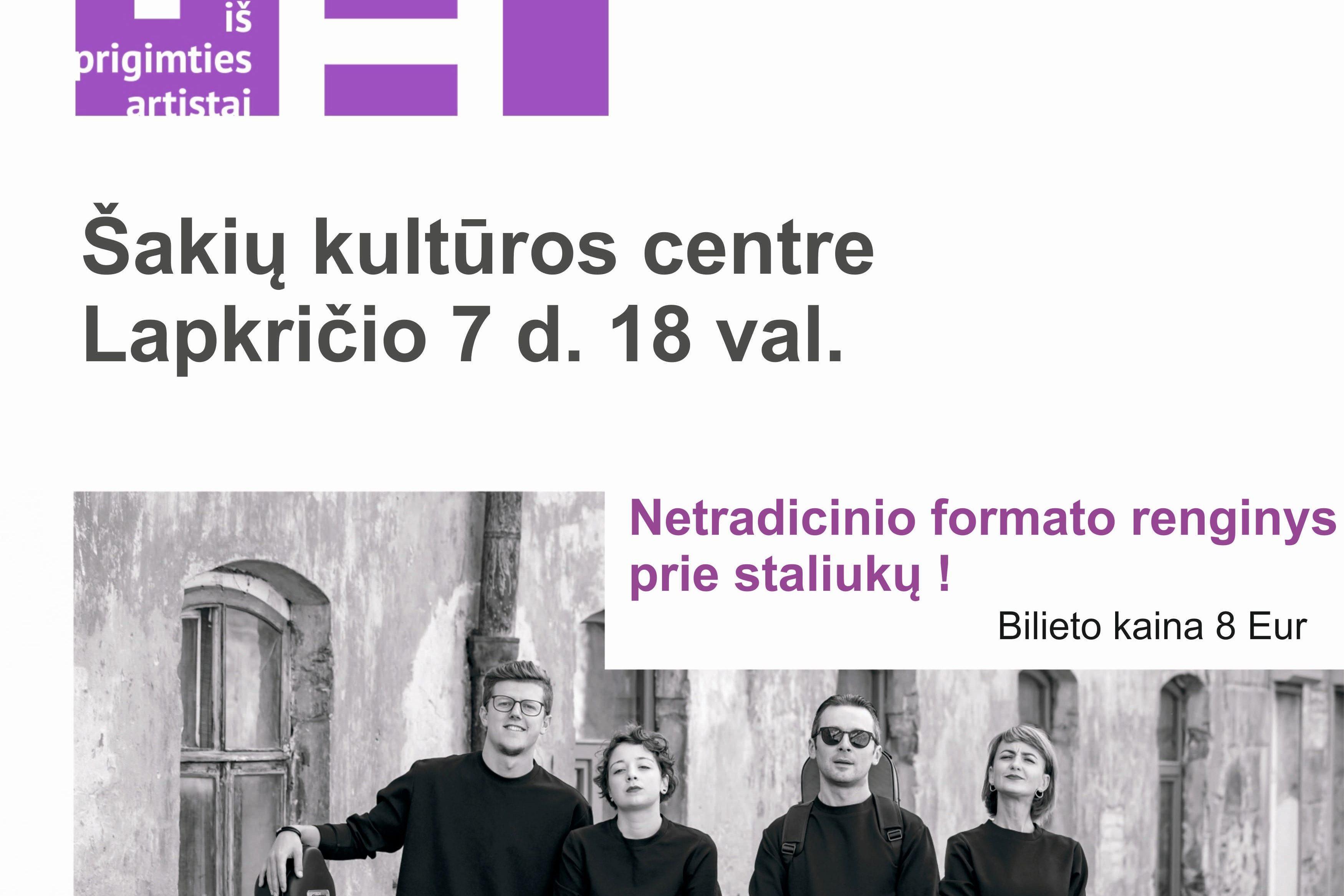 """Styginių kvarteto """"IPA"""" koncertas"""