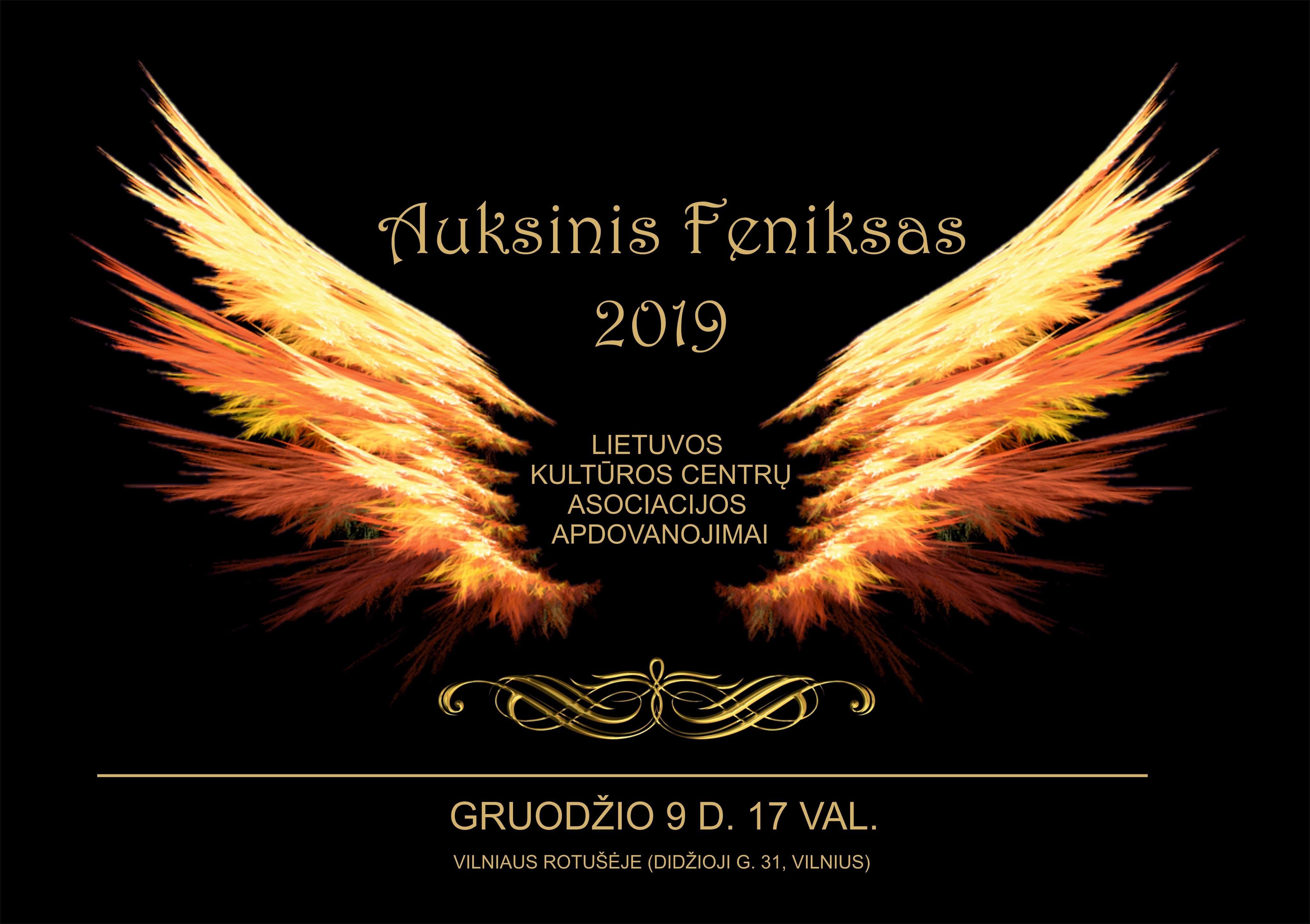 """Iškilmingai bus įteikti ypatingieji Lietuvos kultūros centrų asociacijos apdovanojimai                                                              """"Auksinis feniksas"""""""