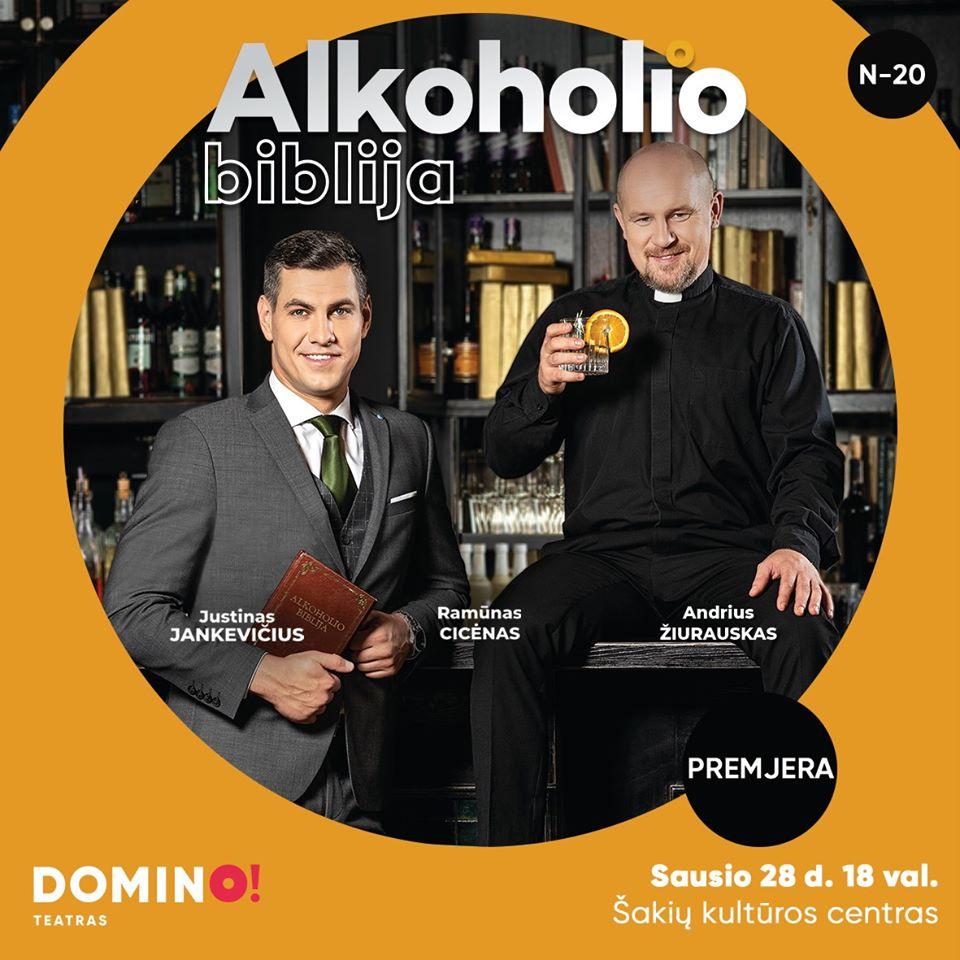 """Spektaklis ,,Alkoholio biblija"""""""