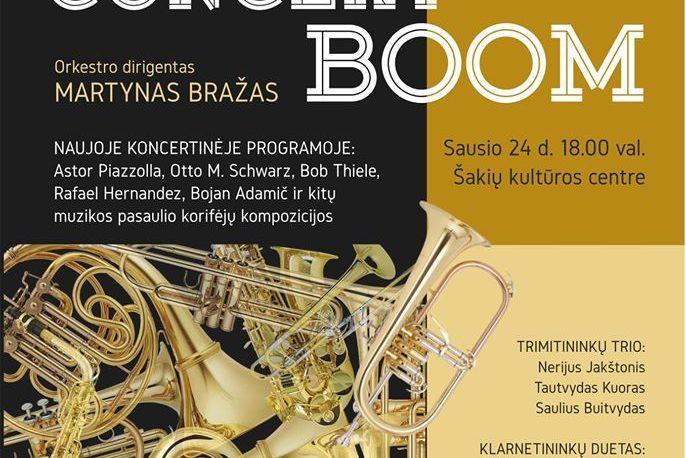 """Pučiamųjų instrumentų orkestro ,,Garsas"""" koncertas ,,Concert Boom"""""""