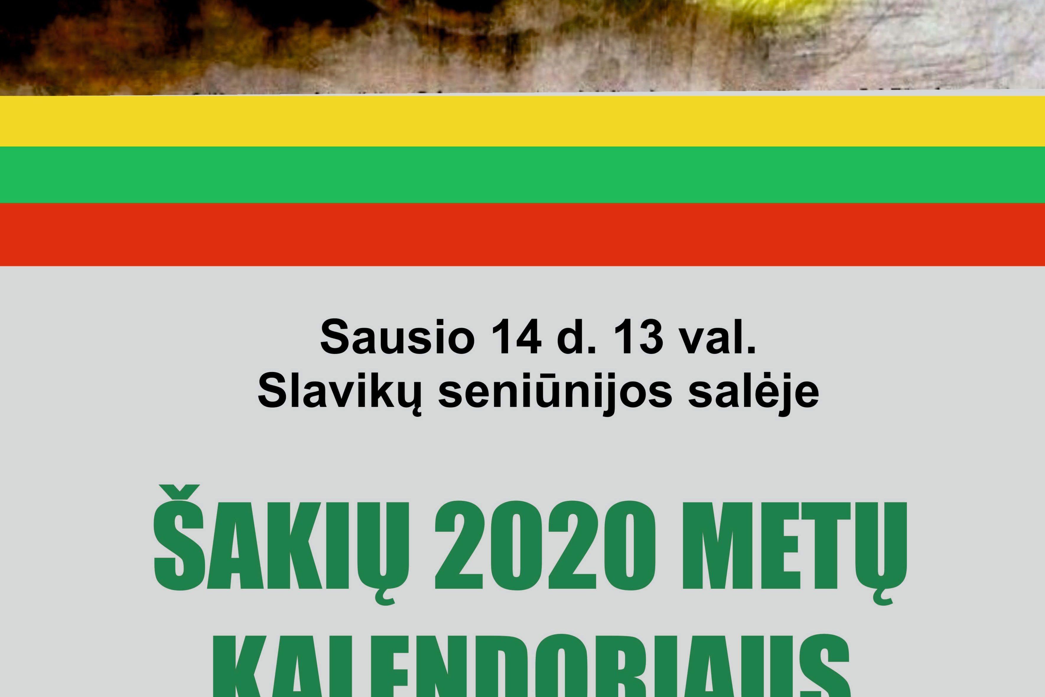 2020 metų Šakių kalendoriaus pristatymas Slavikuose