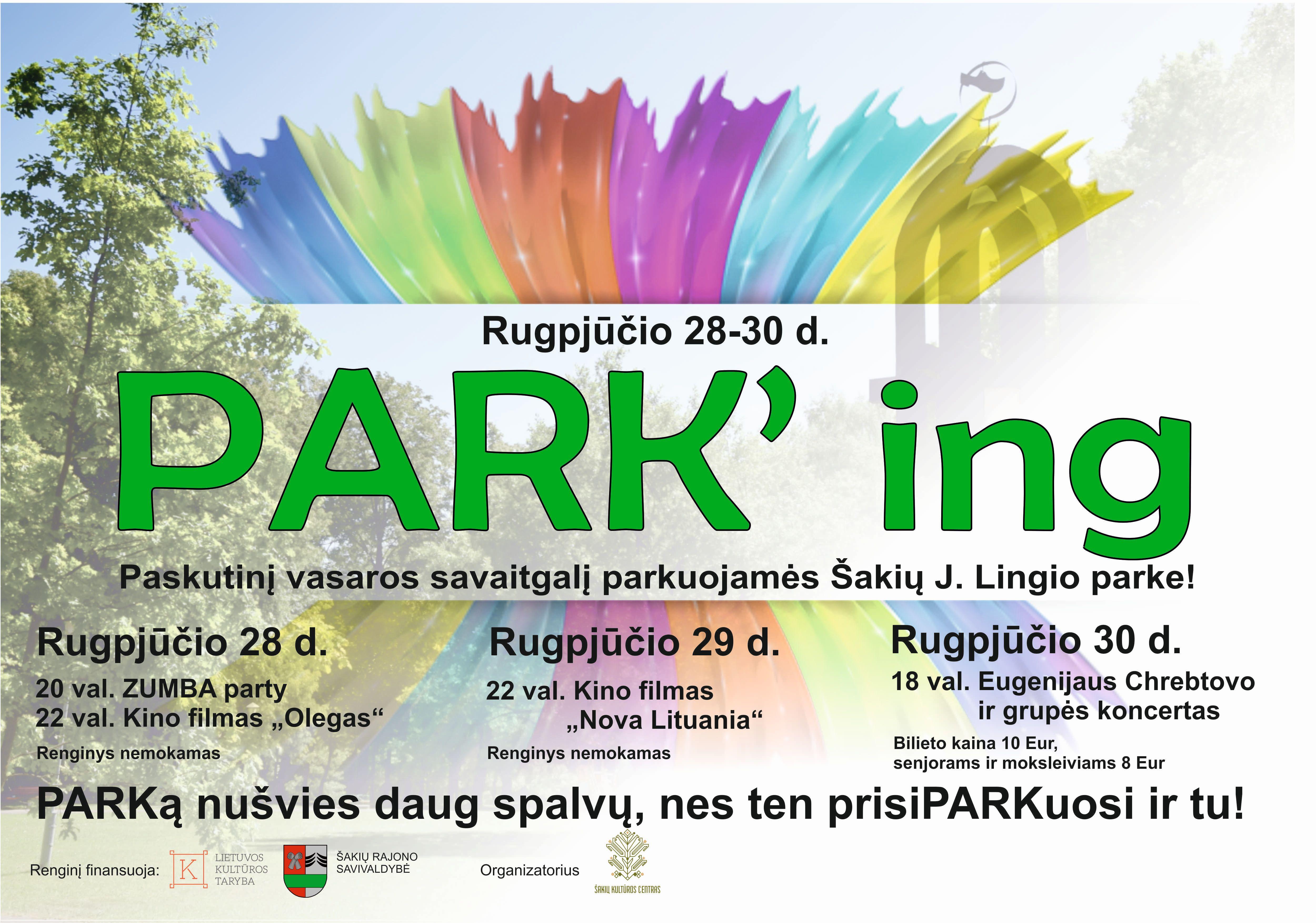 Paskutinį vasaros savaitgalį parkuojamės Šakių J.Lingio parke!