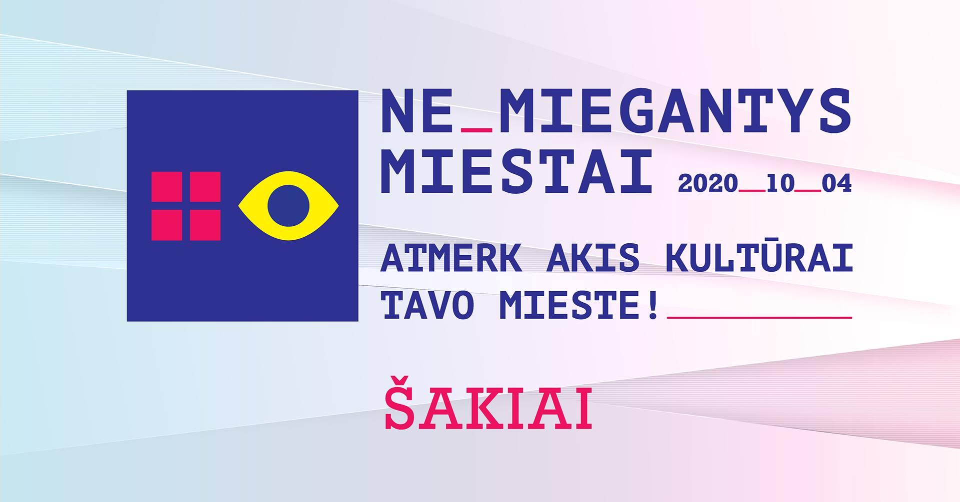 """Meno projektas """"(NE)MIEGANTYS MIESTAI"""""""