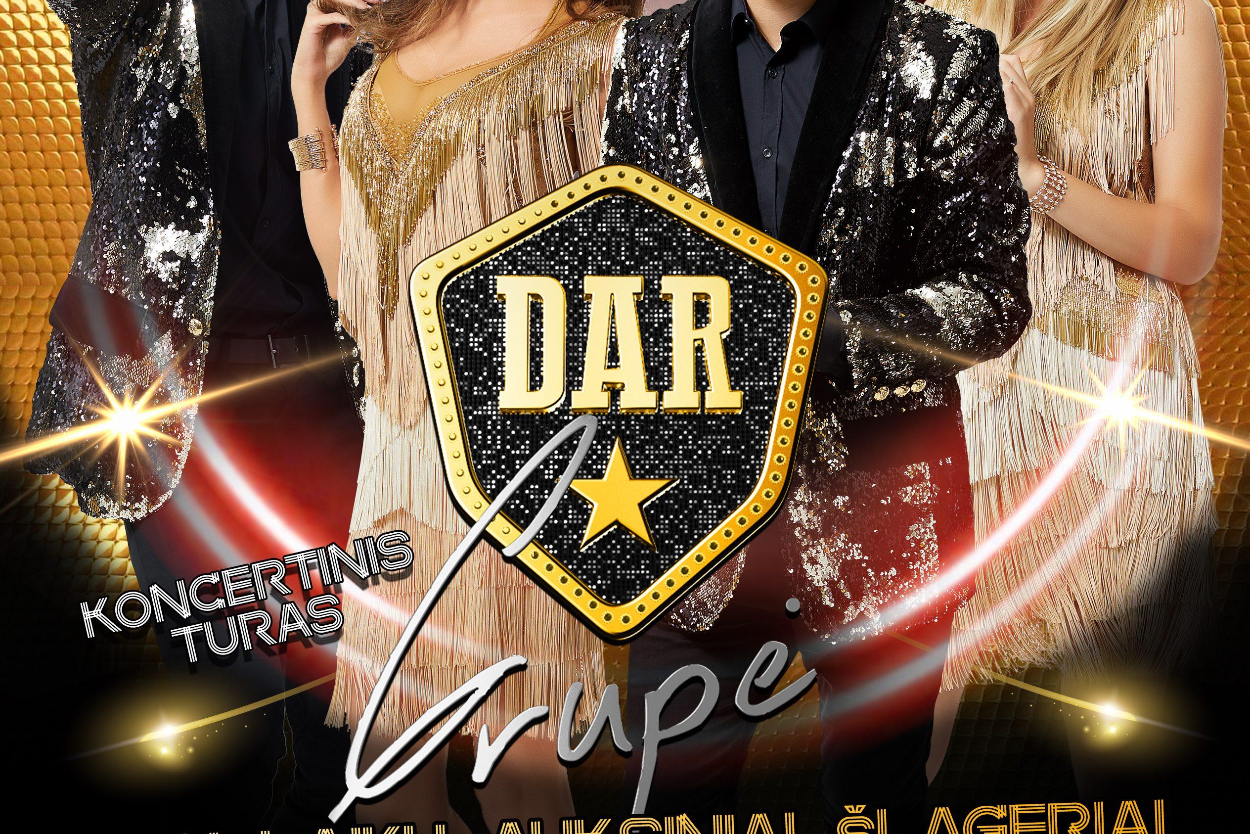 """Grupės ,,Dar"""" koncertas vyks gruodžio 9 d."""