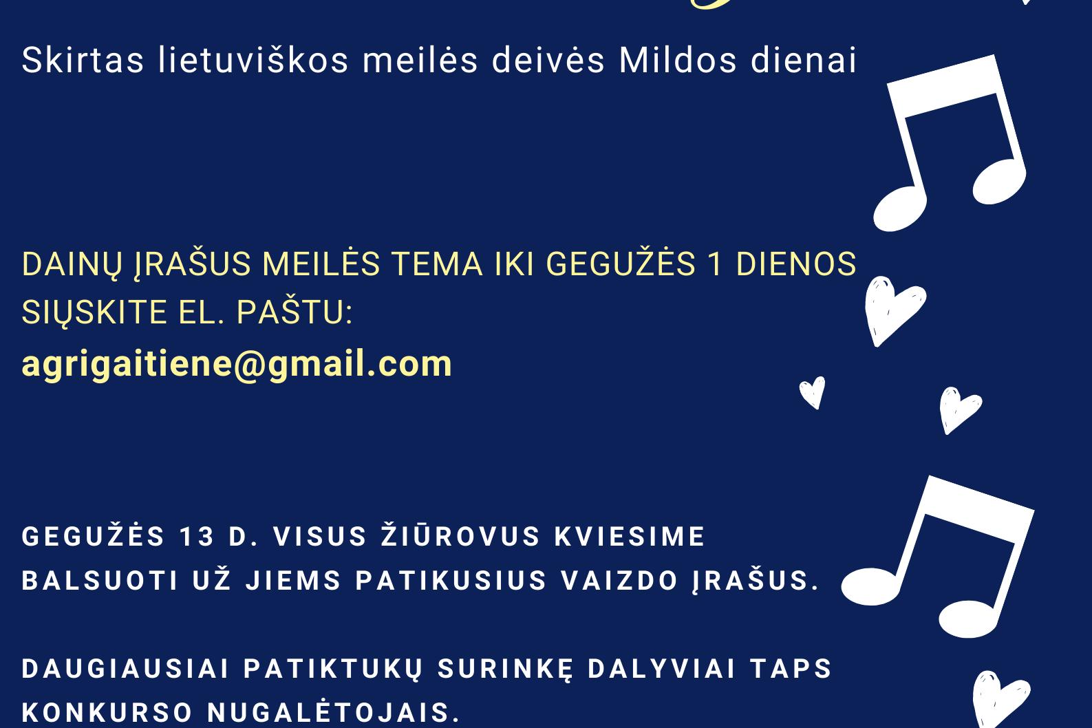 """Virtualus dainos konkursas ,,Meilės melodijos"""""""