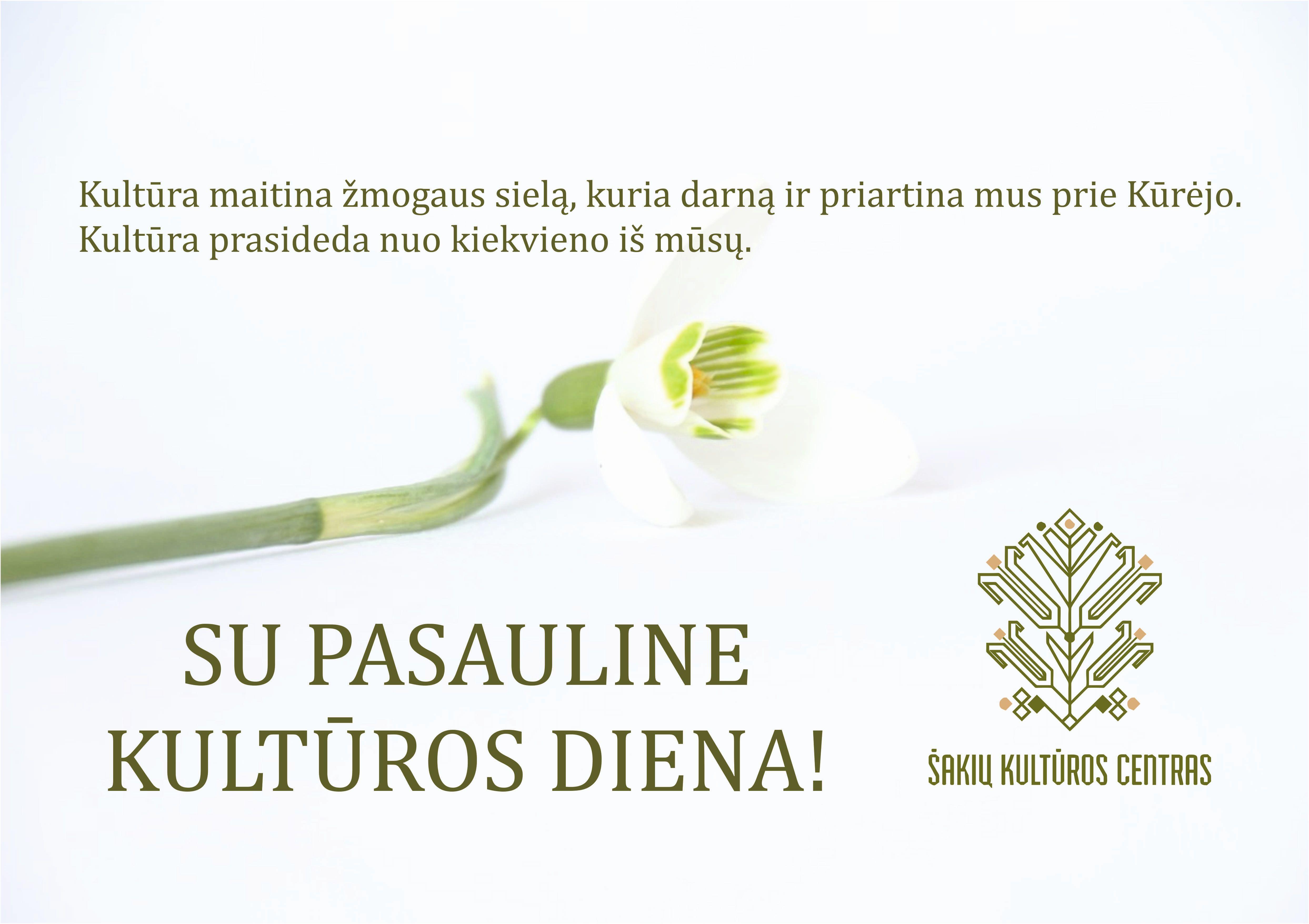 Sveikinimas su Kultūros diena