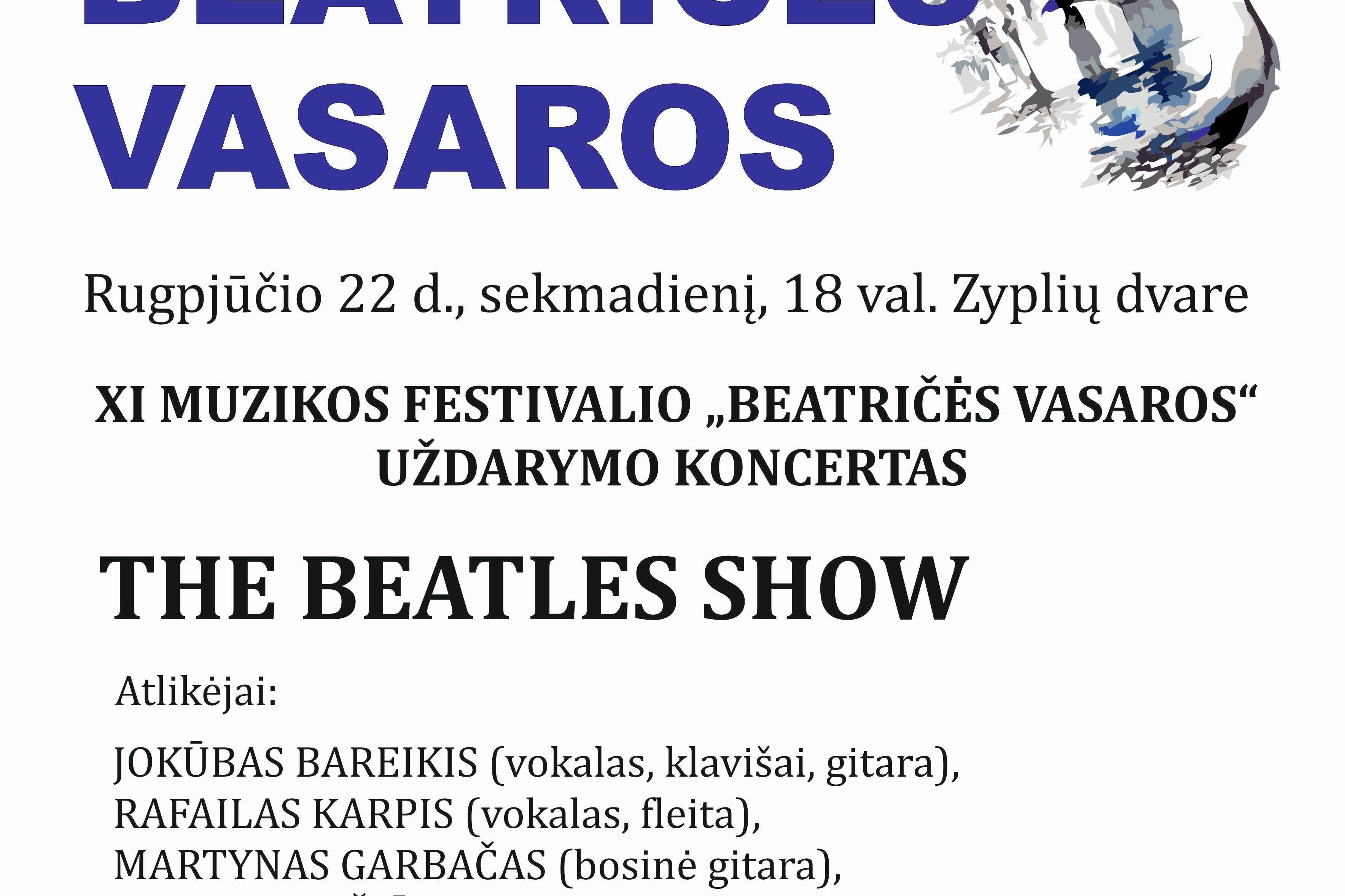 """Muzikos festivalio ,,Beatričės vasaros"""" uždarymo koncertas"""