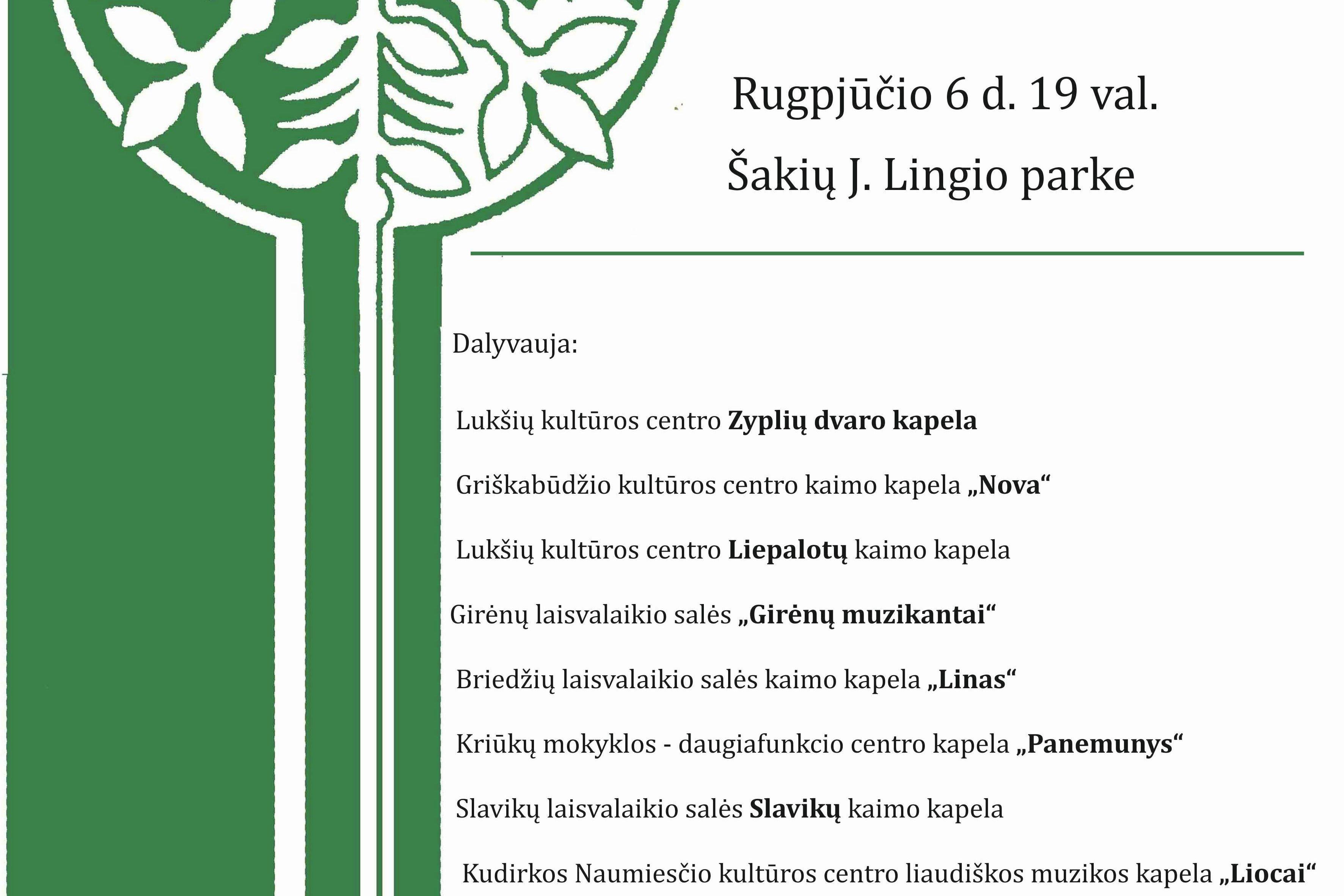 """Šakių rajono kapelų šventė-varžytuvės ,,Pašešupių armonika 2021"""""""