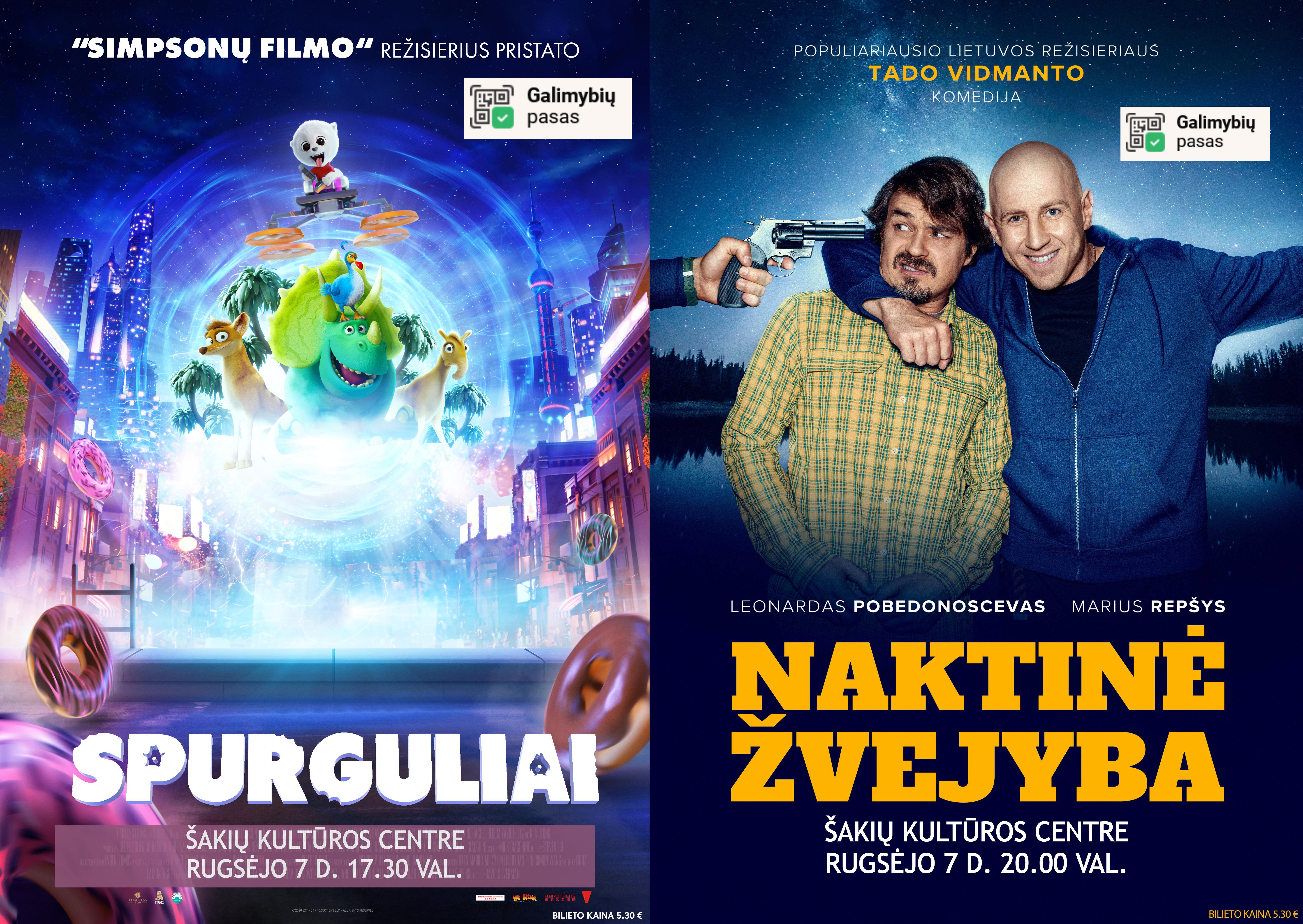 Kino filmai vėl Šakių kultūros centre